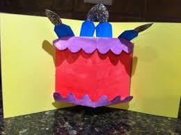 birthday cake card surprise my kid craft