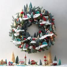 magical village themed christmas wreath martha stewart