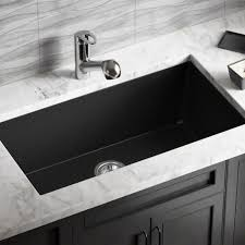 848 black trugranite single bowl kitchen sink amazon com