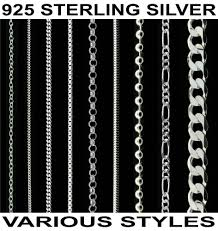 necklace chains types images 925 sterling silver 14 16 18 20 22 24 26 28 30 quot inch curb trace jpg