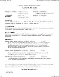 Musician Resume Samples by Resume Format For Bank Job Download Examples Of Resumes Example