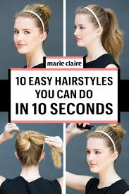 do it yourself haircuts for women 10 easy hairstyles you can do in 10 seconds diy hairstyles