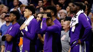 kings walk into chaos in phoenix leave with stinging loss nbcs