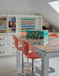 wrapping paper station craft room with wrapping paper station cottage den library office