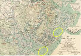 Savannah Georgia Map Batteries In The Marshes The Defenses Of Savannah Part 1 To