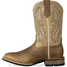 s quickdraw boots ariat s quickdraw boots wide square toe tumbled bark 10002224