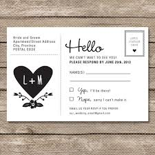 wedding postcards rsvp postcard wording 28 images of rsvp wedding invitation