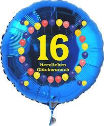 geburtstagsspr che zum 16 ballonsupermarkt onlineshop de luftballon 16 geburtstag