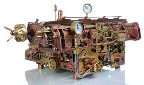 photo camera on a white background style steampunk stock photo