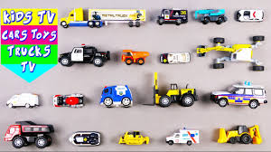 learn police and construction vehicles for kids children babies