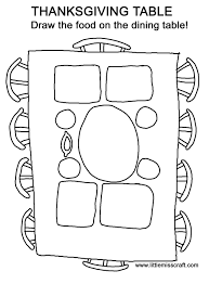 thanksgiving table coloring pages getcoloringpages com