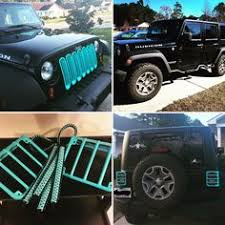 black and turquoise jeep custom turquoise jeep jku interior accessories jeepin pinterest