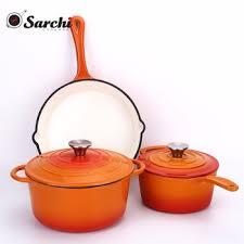 cast iron enamel cookware german masterclass premium parini cast iron enamel cookware set for