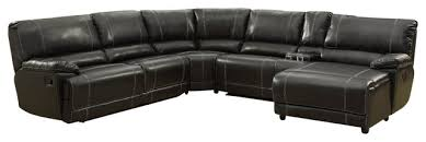 black leather reclining sectional sofa drk architects