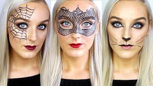 cute halloween cat makeup 3 easy last minute halloween makeup ideas youtube