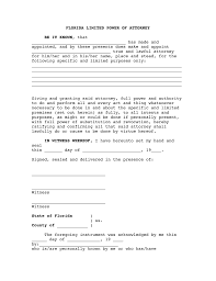 Sample Special Power Of Attorney To Sell Property by Free Florida Limited Power Of Attorney Form Word Pdf Eforms