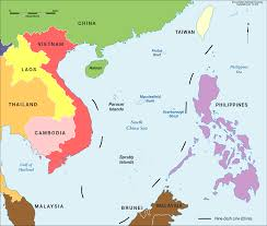 china on a map south china sea in colour cartogis services maps anu