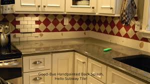forever decorating subway tiled back splash finally