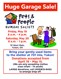 garage sale pets and people