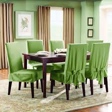 What Kind Of Fabric For Dining Room Chairs Sure Fit Cotton Duck Short Dining Room Chair Slipcover U2014buy Now