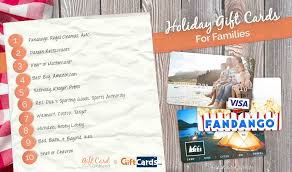top gift cards for families gift card