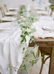 Table Decorations For Funeral Reception Greenery Wedding Table Garland Once Wed Fall Dinner Wedding