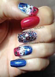 ehmkay nails happy fourth of july quick patriotic nail art