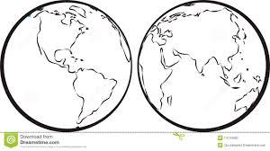 Map Of Western Hemisphere Eastern U0026 Western Hemisphere Stock Photos Image 14744003