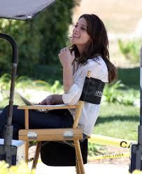Ashley White by Photos Of Ashley Greene Wearing A White Shirt On The Set Of