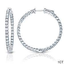 inside out diamond hoop earrings auriya 14k gold small to large inside out diamond hoop earrings
