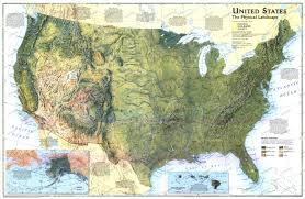 United States Map Com by 1996 United States Physical Landscape Map Historical Maps