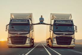 volvo truck shop jean claude van damme does mega splits in new volvo trucks spot