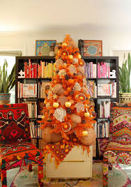 orange artificial christmas tree treetopia