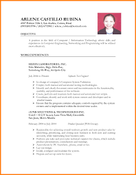 resume sle for job application in philippines time resume sle in the philippines 28 images govt resume for