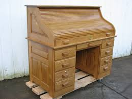 Solid Oak Office Desk Furniture Used Oak Roll Top Desk And Wooden Rolltop Computer For