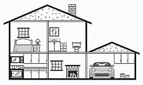 drawing a house inside a house draw paint objects pinterest drawings