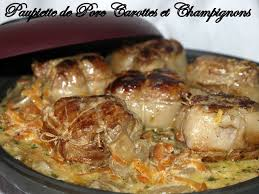 cuisiner les paupiettes paupiette de porc carottes et chignons dans vos assiettes