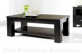 Painted Wood Coffee Table Living Room Black Livingroom Decorating With Modern Black