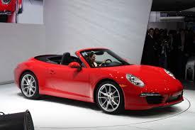 convertible porsche red automotive trends 2012 naias porsche 911 cabriolet