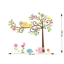 tree owl wall stickers art decals nursery 2 for 20 wall decals owl wall stickers art decals 2 for 20
