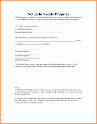 Sample Letter Of Intent To Vacate by Thirty Day Notice Of Resident Intent To Vacate Notice Letter Of