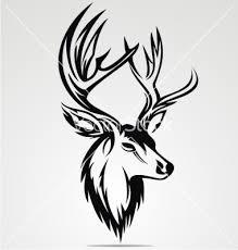 deer tribal vector stylized designs for tattoos