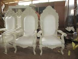 Rio Brand Chairs 2 X Rio Brand New King U0026 Queen Throne Chairs For Weddings Ivory