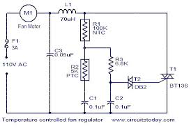 fans that work like ac temperature controlled fan regulator electronic circuits and