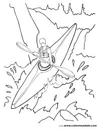 kayak coloring page create a printout or activity