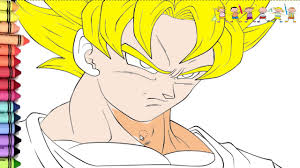 drawing of goku super saiyan coloring page fun to draw youtube