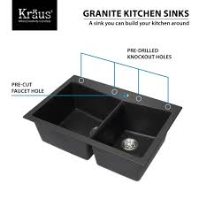 Single Sink Kitchen Ideas Alluring Appealing Black Granite Kitchen Sinks And Square