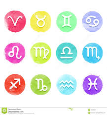 zodiac sign clipart watercolor pencil and in color zodiac sign