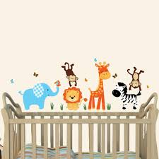 amazon com mini jungle joy animal wall decals nursery wall art amazon com mini jungle joy animal wall decals nursery wall art elephant lion giraffe monkey baby