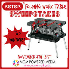 Keter Folding Bench Keter Folding Work Table Review And Giveaway A Gift For The